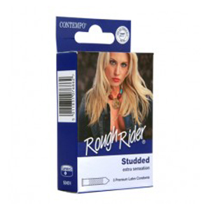 CONTEMPO ROUGH RIDER CONDOM 3's | STUDDED